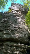 Rock Climbing Photo: Tall juggy route