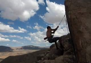 Rock Climbing Photo: I decided too jump from the top. Really nice climb...