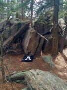 Rock Climbing Photo: Fountain Lip Boulder.