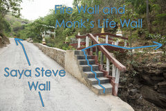Rock Climbing Photo: Continue up the road for Steve Wall.