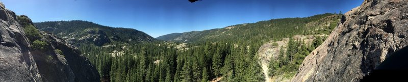 Bowman Valley panoramic from atop Rediscovery Wall Left<br>