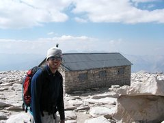 Rock Climbing Photo: The hut atop Mt. Whitney, High Sierra
