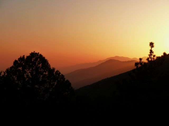 Sunset from 2N93, San Bernardino Mountains