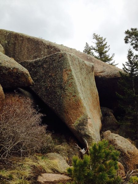 A shot of the boulder.<br> <br> Photo by Rob Joyce.