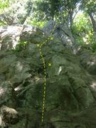 Rock Climbing Photo: Left Cheek with bolts