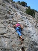 Rock Climbing Photo: Big features and good rock...yum.  Cruisin' the Gr...