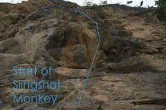 Rock Climbing Photo: Start of Slingshot Monkey