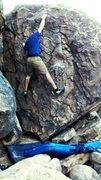 Rock Climbing Photo: top throw