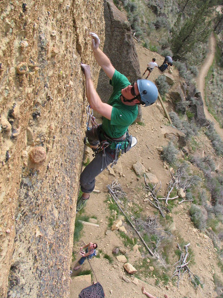 """Rock Climbing Photo: The """"crack"""" section of Explosive Energy ..."""