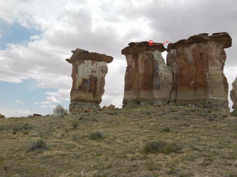 Rock Climbing Photo: The Leap of Faith Topo