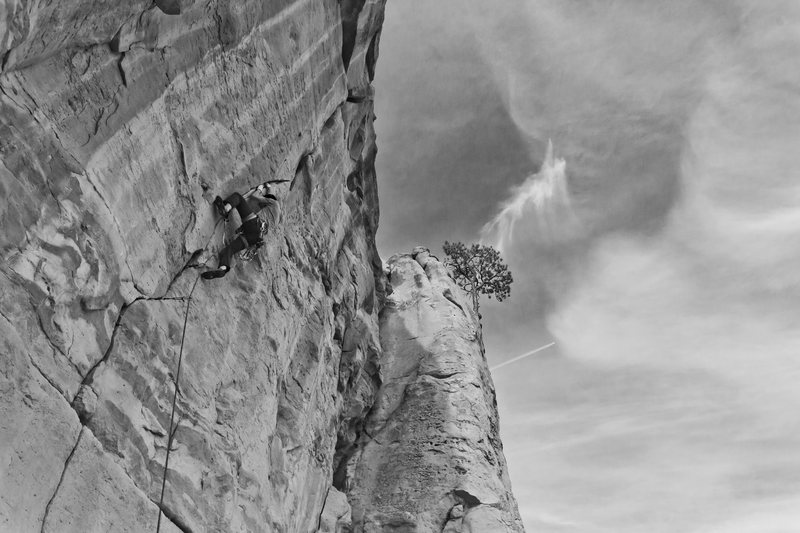 Finally getting on lead on this 11b route I've been top roping for awhile.