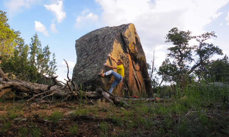 Rock Climbing Photo: Getting established on the arete of Air Out The So...