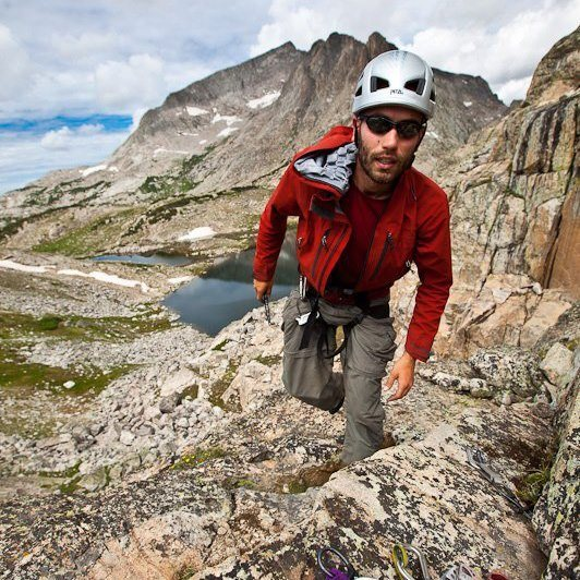 Rock Climbing Photo: Climbing in the Wind Rivers, Wyoming