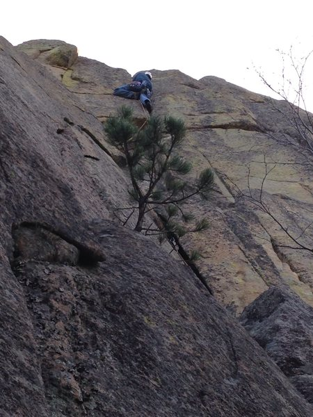 "Rock Climbing Photo: Just about to the ""Friendly"" Finish!!"