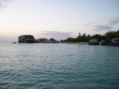 Rock Climbing Photo: Spring Bay at sunset. Taken from the far south end...