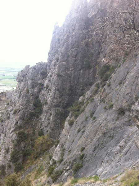 Rock Climbing Photo: bolted route about 4 feet in from the arete, direc...