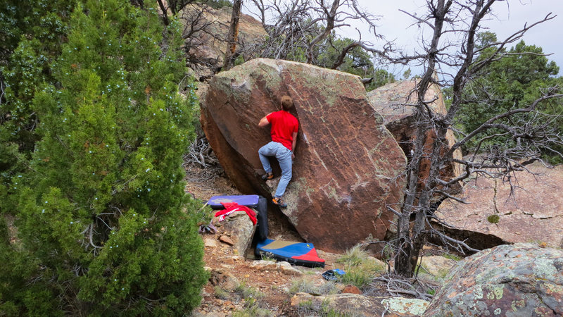 Rock Climbing Photo: No hands! Balance on that left foot and reach for ...