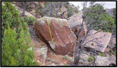 Rock Climbing Photo: Petrichor problem beta.