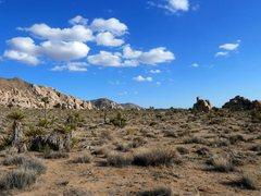 Rock Climbing Photo: The Dakota Domes in relation to the main Comic Boo...