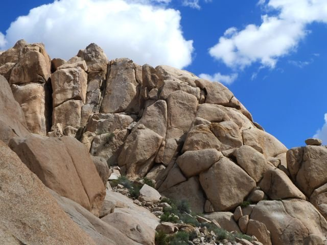 The north face of the Comic Strip, Joshua Tree NP