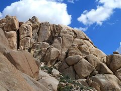 Rock Climbing Photo: The north face of the Comic Strip, Joshua Tree NP