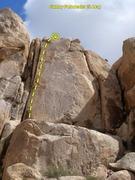 Rock Climbing Photo: Gumby Poindexter (5.10a), Joshua Tree NP