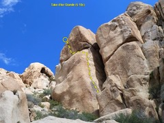 Rock Climbing Photo: Take It For Granite (5.10c), Joshua Tree NP