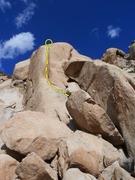 Rock Climbing Photo: Frontal Logranity (5.10a), Joshua Tree NP