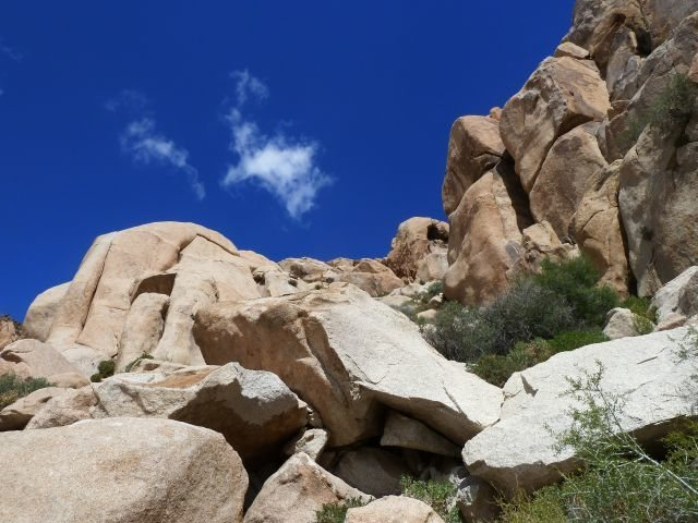 BC Buttress is just north of The Comic Strip, Joshua Tree NP