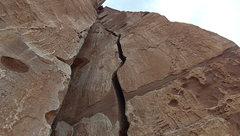 Rock Climbing Photo: Along pitch 1