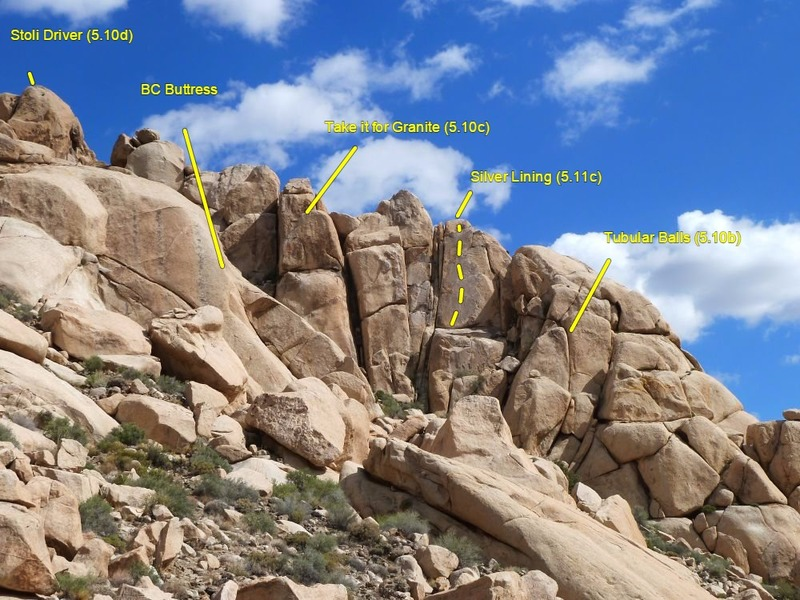 Rock Climbing Photo: The Comic Strip (North Face) detail, Joshua Tree N...