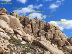 Rock Climbing Photo: The Comic Strip (North Face) detail, Joshua Tree N...