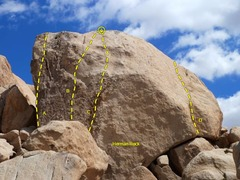 Rock Climbing Photo: Herman Rock detail, Joshua Tree NP  A. Controversi...