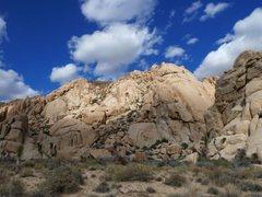 Rock Climbing Photo: The Comic Strip (Southwest Face), Joshua Tree NP