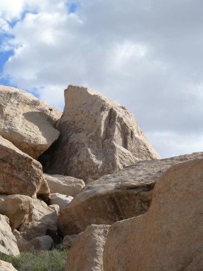North side of the Deja Vu Pinnacle, Joshua Tree NP