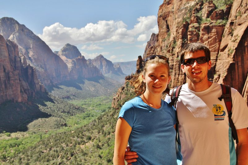 The wife and I in Zion.
