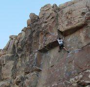 Rock Climbing Photo: Congratulations (5.10d), JTree.
