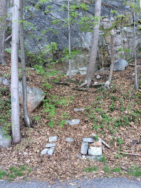 Rock Climbing Photo: Bitchy Virgin approach trail (note immense boulder...