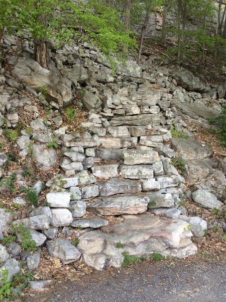 MF/Mac Wall approach trail.  The next trail is [[Welcome to the Gunks]]110455114