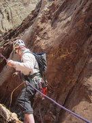 Rock Climbing Photo: Preparing the 200'rap