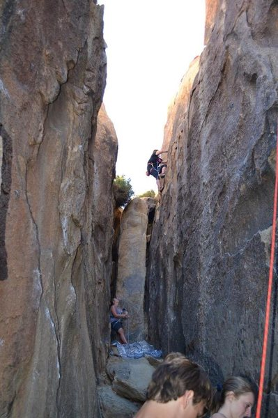 First picture I have of me outdoor climbing... taken by a stranger, of course.  Black Corridor.