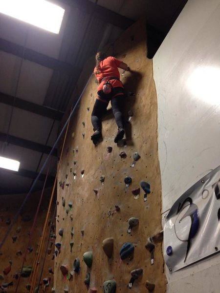 Rock Climbing Photo: Me at the local climbing gym where I learned to cl...