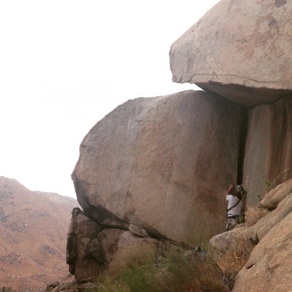 Rock Climbing Photo: Sizing up the OW