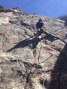 Rock Climbing Photo: Starting up Turmoil.