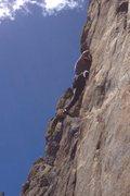 Rock Climbing Photo: The start of the crux.