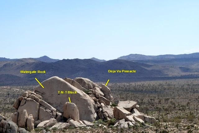 An overview of the Watergate Rock Area, Joshua Tree NP
