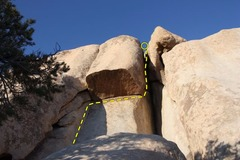 Rock Climbing Photo: Frank's Wild Years (5.10a/b), Joshua Tree NP
