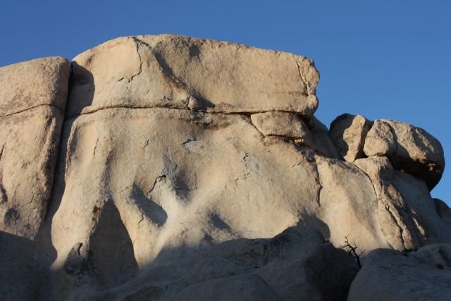 The right side of Laugh Rock's (W. Face), Joshua Tree NP