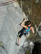"Rock Climbing Photo: Alicia Bodalay seconding ""Two Lines of Coke A..."