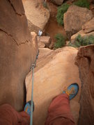 Rock Climbing Photo: Self-portrait at the top of the ole Texas Two Step...